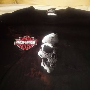 HARLEY DAVIDSON skeleton/cozumel XL black t-shirt